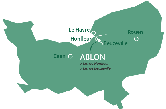 carte normandie Ablon